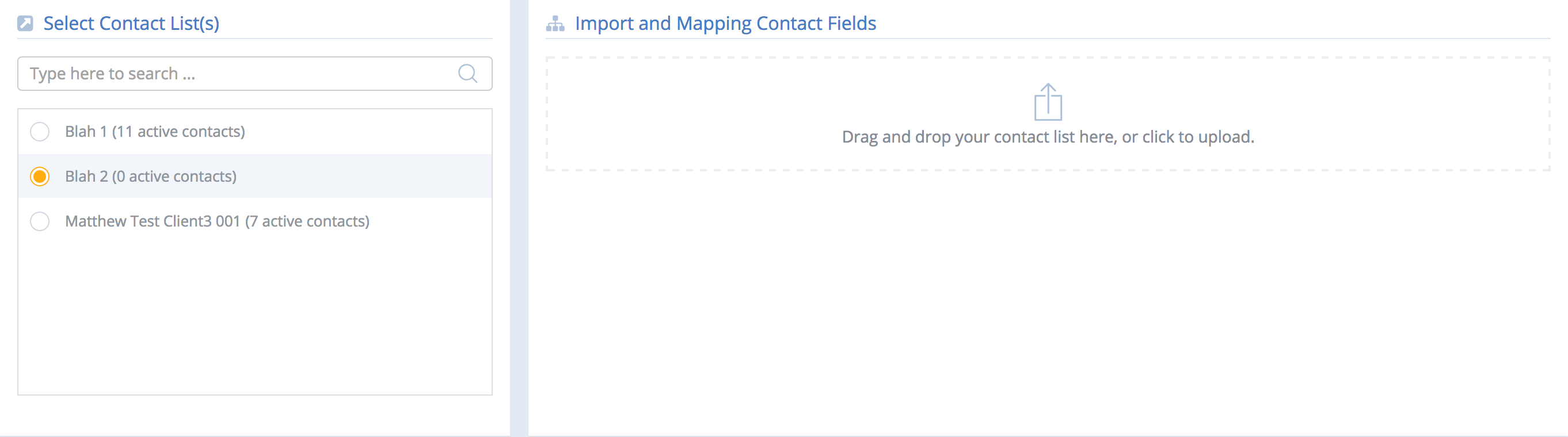 Select-Contact-List