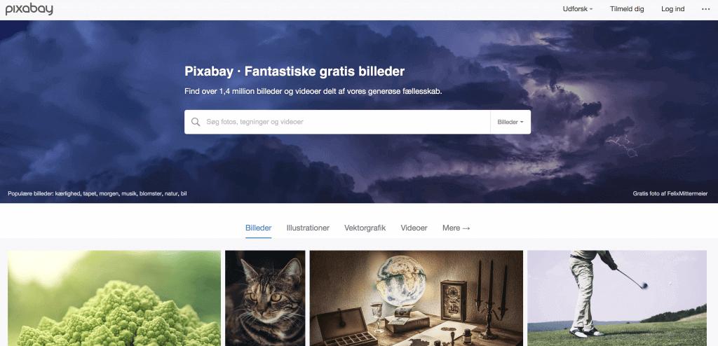Pixabay er en gratis billedbank