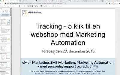 Webinar: Tracking – 5 klik til en webshop med Marketing Automation