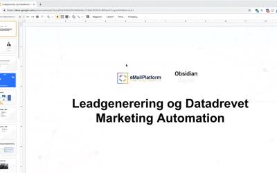Webinar: Leadgenerering og Datadrevet Marketing Automation