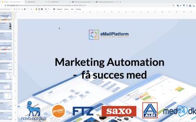 Webinar: Få succes med Marketing Automation