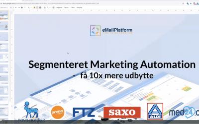 Webinar: Segmenteret Marketing Automation