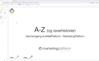 Webinar: A-Z part 1 med MarketingPlatform