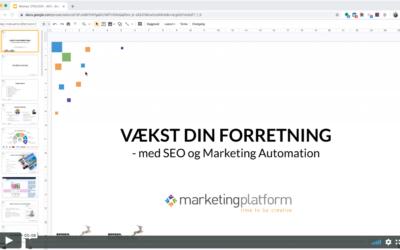 Webinar: Vækst din forretning med SEO og Marketing Automation