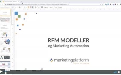 Webinar: RFM modellen og Marketing Automation
