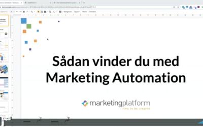 Webinar: Sådan vinder du med Marketing Automation