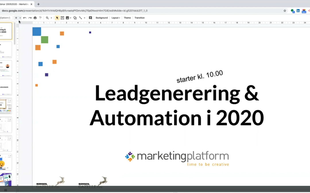 Webinar: Leadgenerering & Automation i 2020