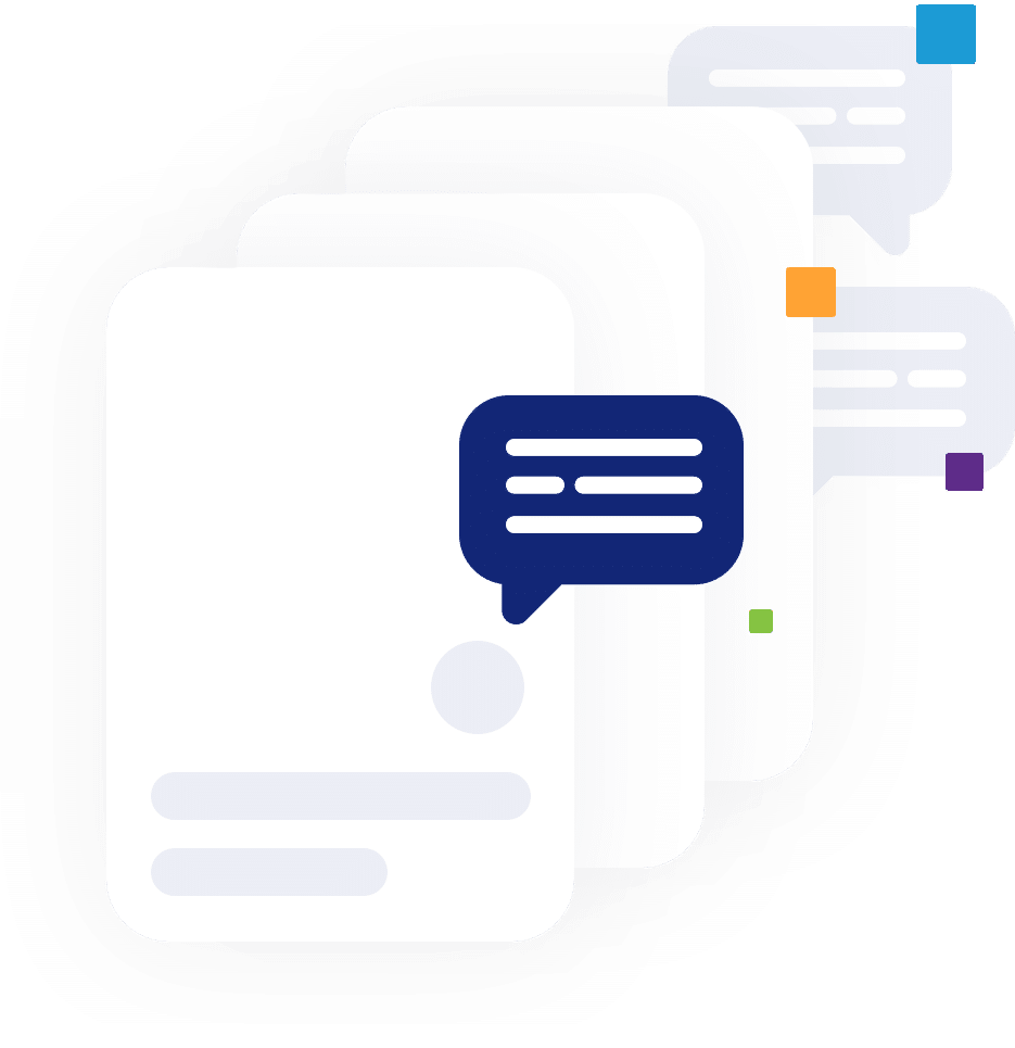 A graphic illustration of SMS marketing from MarketingPlatform.