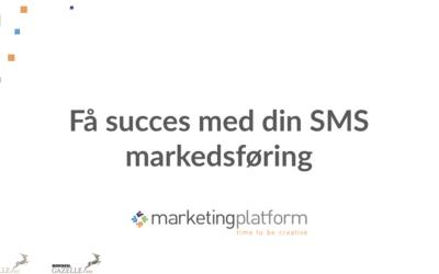Webinar: Få succes med din SMS markedsføring